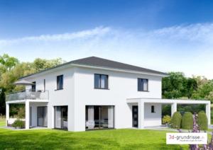 Einfamilienhaus Aussenvisualisierung - 3d-grundrisse.ch