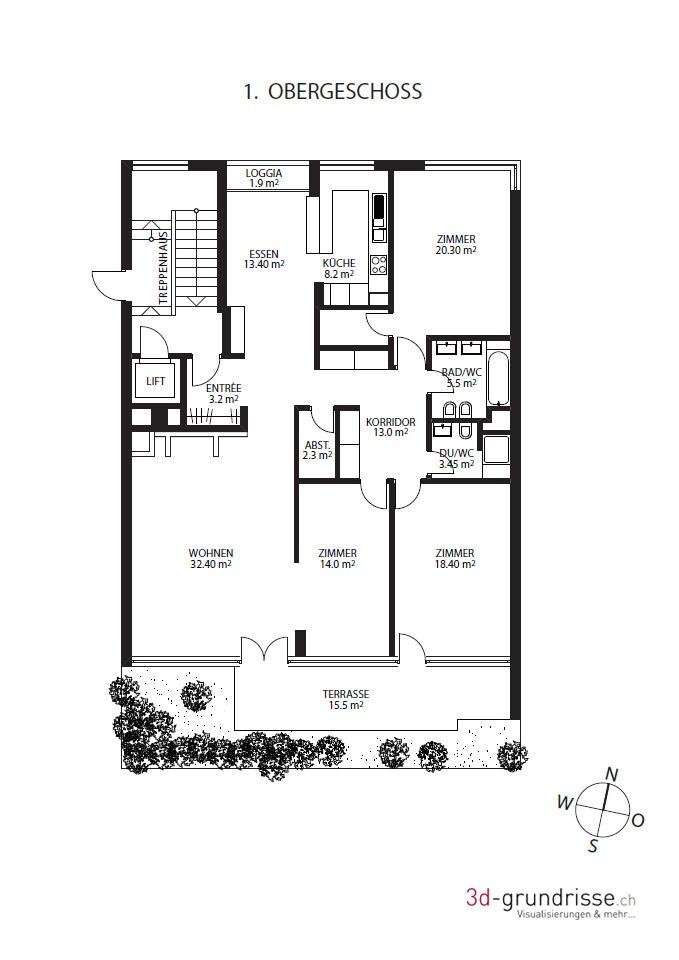 2d grundriss 3d. Black Bedroom Furniture Sets. Home Design Ideas