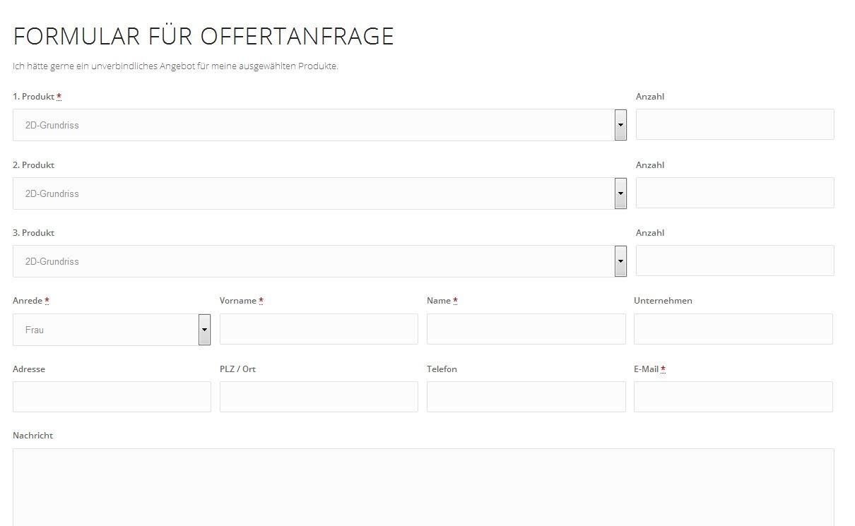 Neu Offerte online über Formular anfragen | 3d-grundrisse.ch